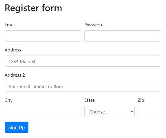 Register form page image